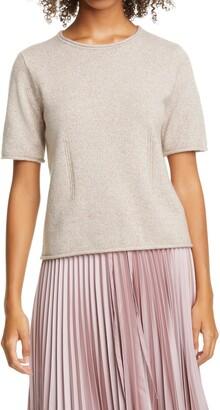 Club Monaco Short Sleeve Cashmere Sweater