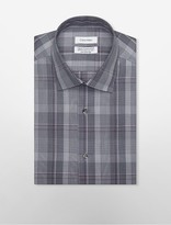 Calvin Klein Steel Regular Fit Non-Iron Smoky Plaid Dress Shirt