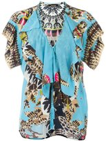 Roberto Cavalli 'Day Dream' ruffle trim blouse - women - Silk - 40