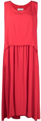 Societe Anonyme Draped Shift Maxi Dress