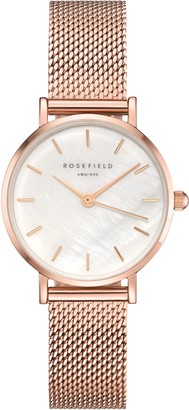 ROSEFIELD Women's The Small Edit Mesh Bracelet Strap Watch