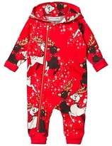 Mini Rodini Red Reindeer Onesie