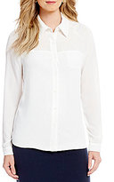Alex Marie Brigid Long Sleeve Button Front Blouse
