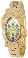 Brillier Women's 18-01 Royal Plume Peacock Inspired Swiss Genuine Gemstones Watch