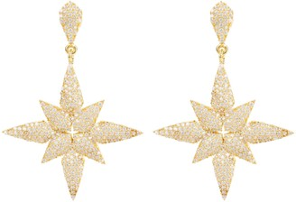 Latelita Star Flower Drop Earrings Gold
