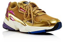 adidas Women's Falcon Metallic Lace-Up Sneakers