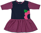 Florence Eiseman Striped Fit-and-Flare Dress, Navy/Fuchsia, 2T-4T