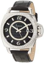 Freelook Unisex HA1093-1 Black Croco Leather Band with Silver Case Watch