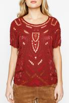 Willow & Clay Beaded Gypsy Top