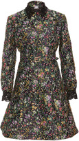 Alexis Mabille Floral Long Sleeve A Line Dress