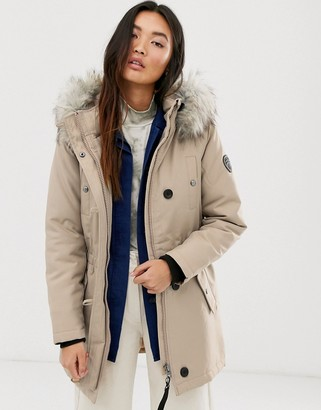 Only fur parka-Beige