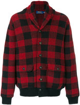 Polo Ralph Lauren checkered knit hooded jacket