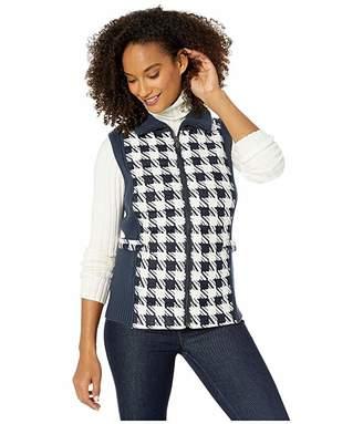 Jones New York Quilted Printed Sweater Vest