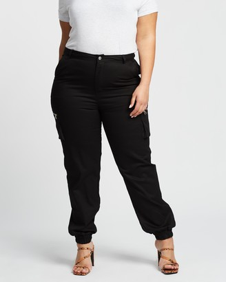 Missguided Curve Zip Pocket Cargo Trousers