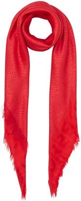 Burberry large metallic-Monogram square scarf