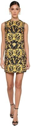 Versace Printed Silk Twill Tunic Dress