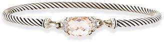 David Yurman Wheaton Bracelet (Morganite and Diamonds)