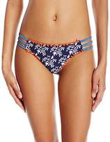 Jessica Simpson Women's Vine about It Side Strap Hipster Bikini Bottom