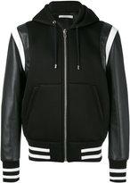 Givenchy hooded varsity jacket - men - Lamb Skin/Acrylic/Polyester/Wool - 50