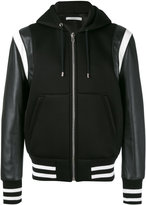 Givenchy hooded varsity jacket - men - Lamb Skin/Acrylic/Polyester/Wool - 54
