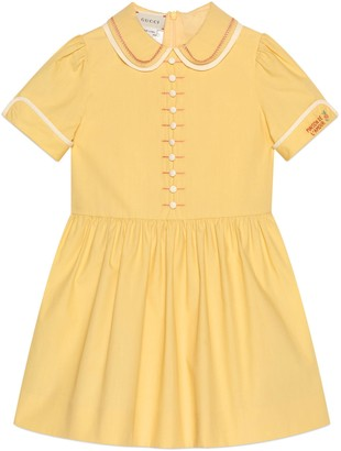 Gucci Children's embroidered cotton dress