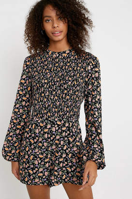 Urban Outfitters Diana Floral Long-Sleeve Romper