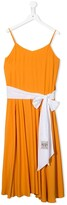 No.21 Kids TEEN belted camisole dress