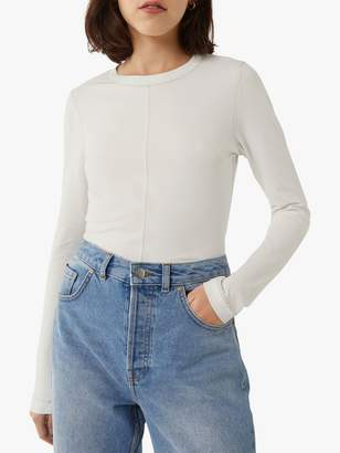 Warehouse Top Stitch Long Sleeve Top