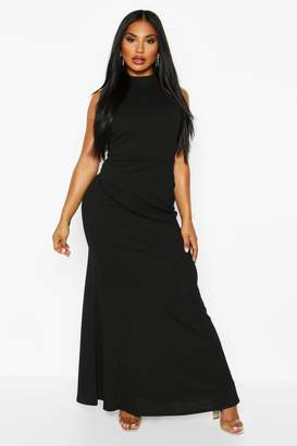 boohoo High Neck Strappy Back Maxi Dress