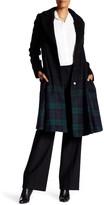 ZAC Zac Posen Fawn Long Length Plaid Coat