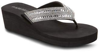OLIVIA MILLER Sugar Magnolia Wedge Sandals Women Shoes