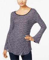Style&Co. Style & Co. Petite Striped Bell-Sleeve Top, Only at Macy's