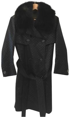 Louis Vuitton Black Fur Coat for Women