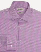 Le Château Check Print Twill Tailored Shirt