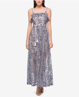 Jessica Simpson Denim Illusion Lace Maxi Dress