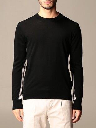 Paolo Pecora Crewneck Sweater With Contrasting Details