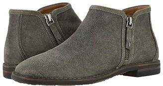 Trask Aubrey (Gray Distressed Italian Suede) Women's Shoes