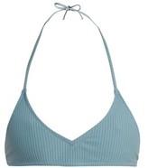 Made by Dawn Shell Ribbed Bikini Top - Womens - Light Blue