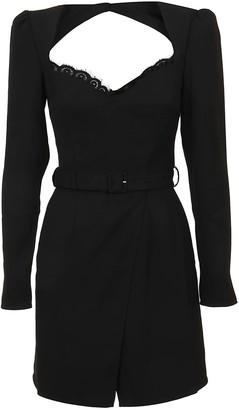 Self-Portrait Black Crepe Mini Dress