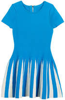 Milly Minis Pleated Contrast Flare Dress, Size 8-14