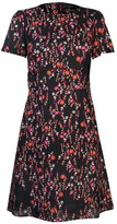 SET Womens Flower Fit and Flare Dress
