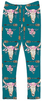 Urban Smalls Blue & White Floral Skull Leggings - Toddler & Girls