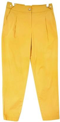 Karen Millen Yellow Cotton Trousers for Women