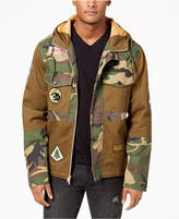 Reason Men's Hooded Camo Navigator Jacket