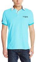 U.S. Polo Assn. Men's Solid Pique Polo Shirt with Contrast Collar