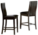 "Homelegance Kilmer 24"" Counter Stool Wood/Deep Espresso (Set of 2)"