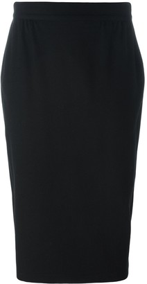 Versace Pre Owned Fitted Over-The-Knee Skirt