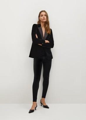 MANGO Velvet leggings