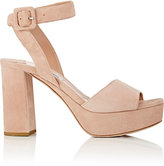 Miu Miu Women's Ankle-Strap Platform Sandals-NUDE