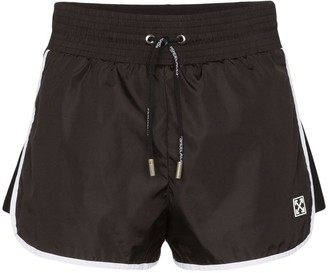 Off-White High-Waisted Boxing Shorts